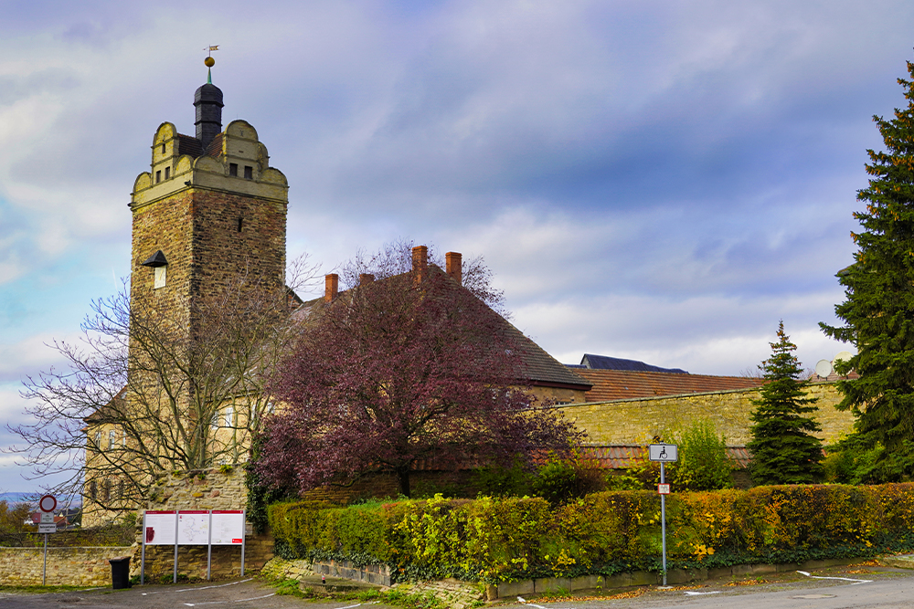 Burg und Schloss Allstedt (in der Nähe von Sangerhausen) - Außenansicht