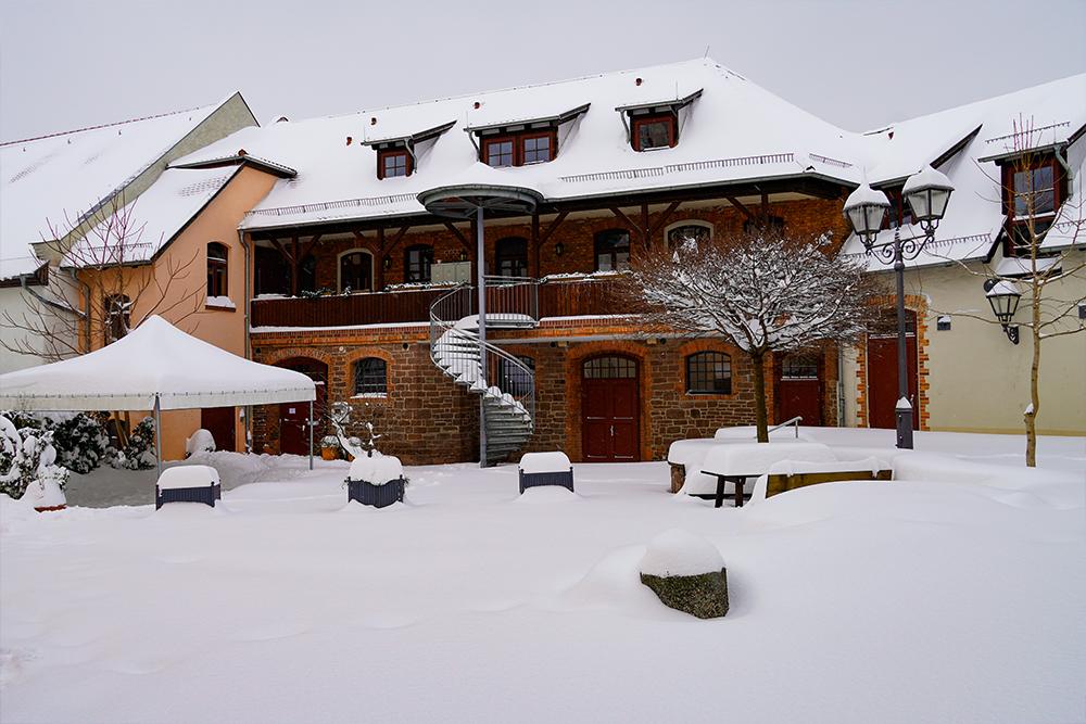 Lutherstadt Eisleben - Katharinenstift im Winter