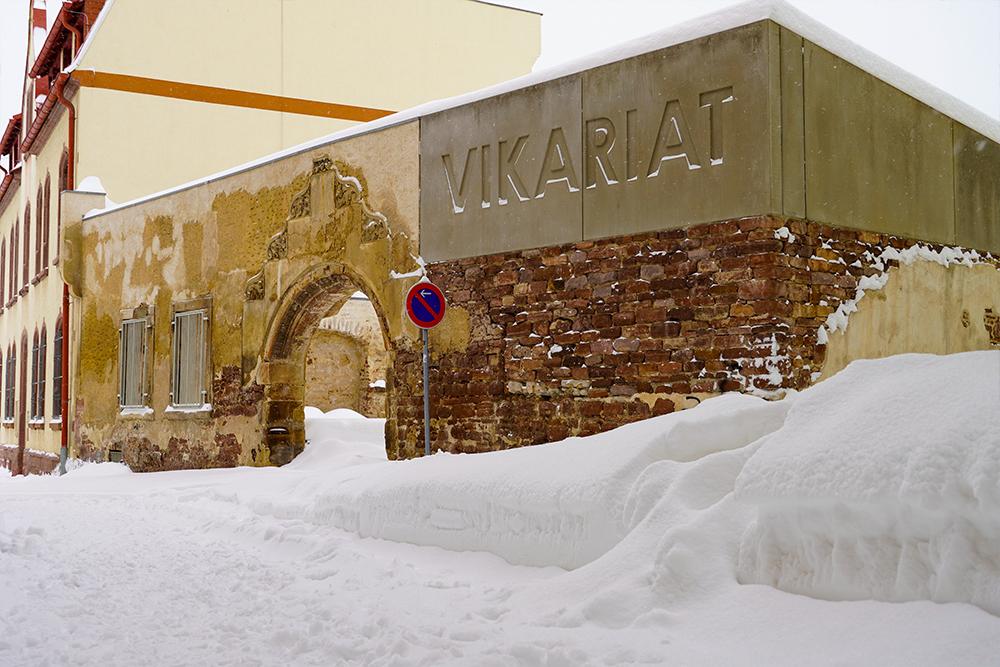 Lutherstadt Eisleben - Vikariatsgarten im Winter