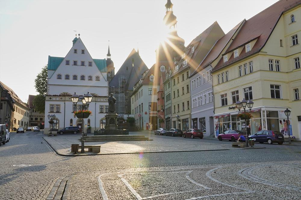 Lutherstadt Eisleben - Markt mit Lutherdenkmal