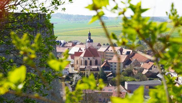 Mansfeld - St. Georgs Kirche Aus Der Vogelperspektive
