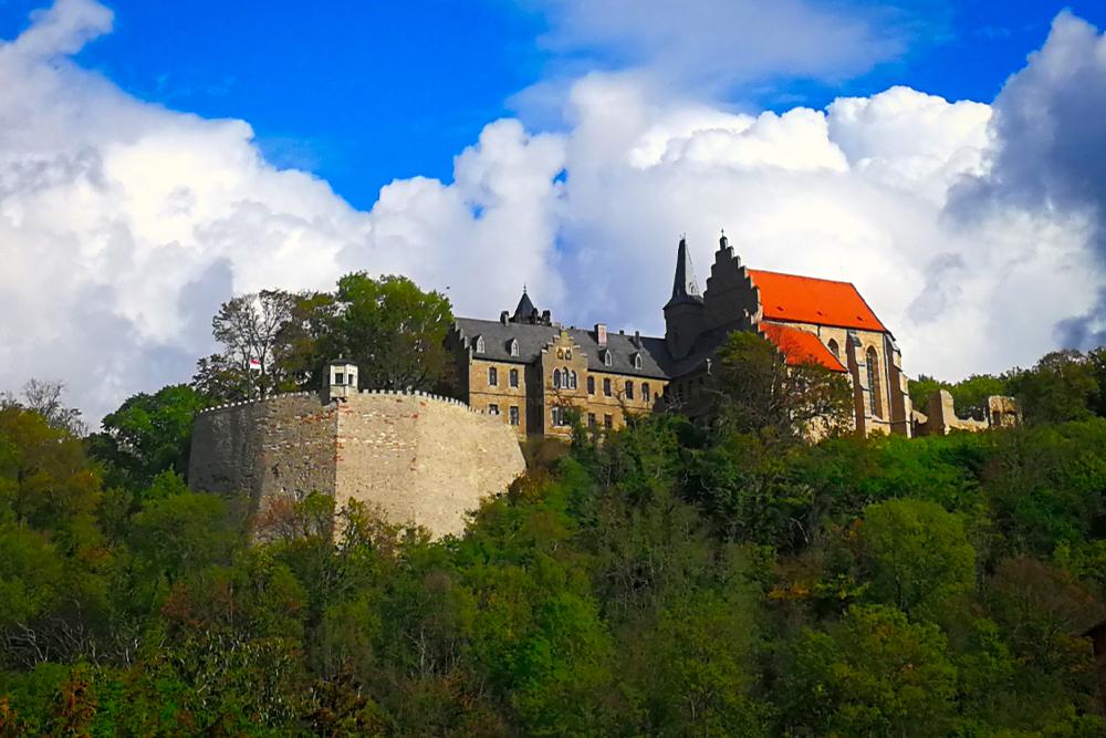 Mansfeld - Blick auf Schloss Mansfeld