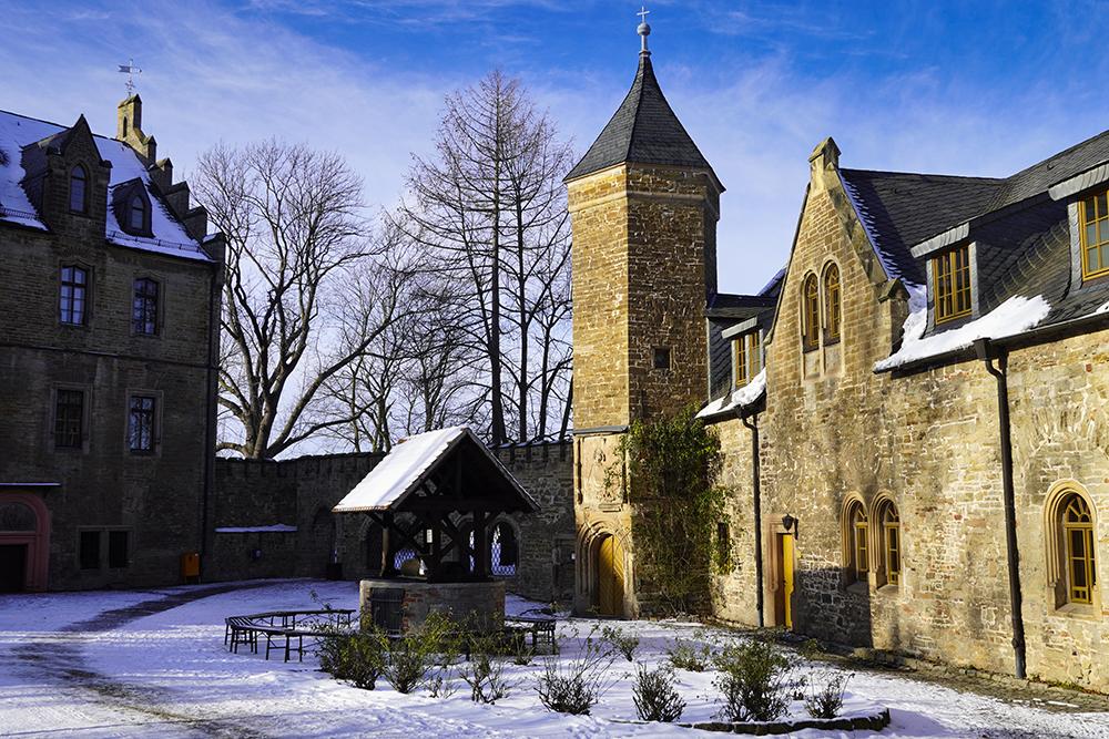 Mansfeld - Innenhof Schloss Mansfeld