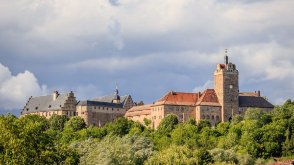 Sangerhausen Außenansicht Burg und Schloss Allstedt