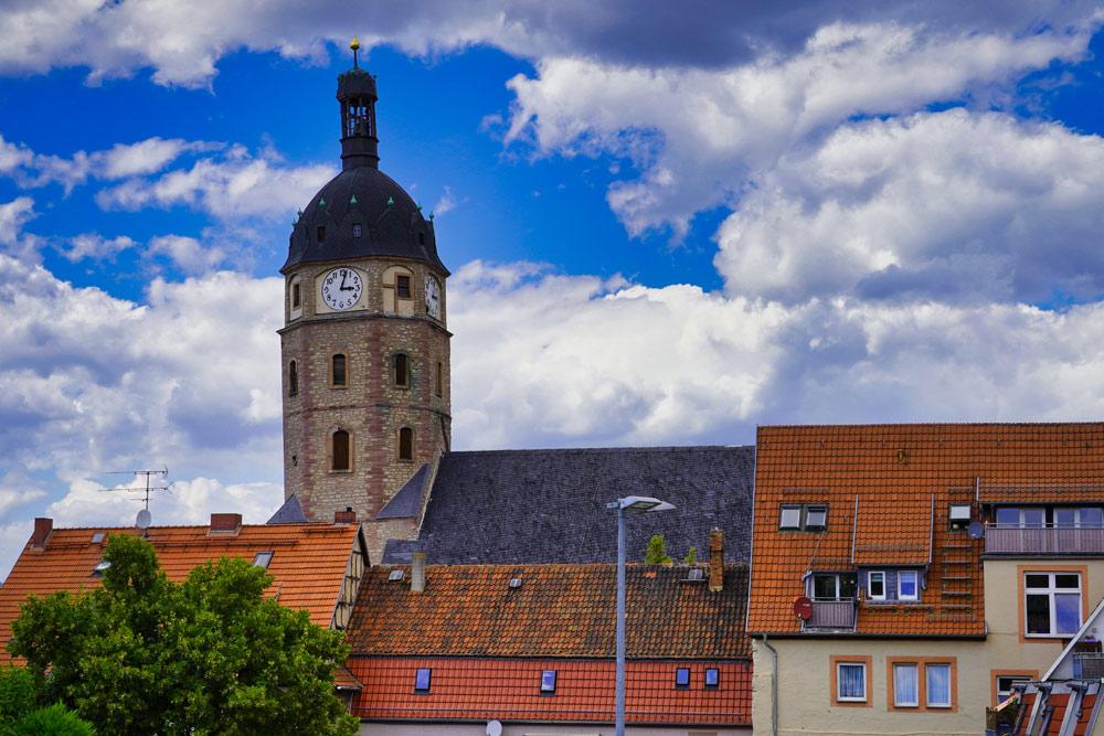 Sangerhausen - Jacobikirche Silhouette