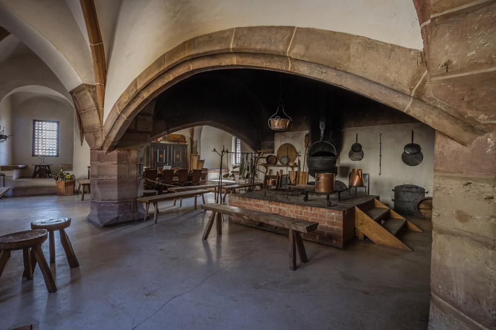 Burg und Schloss Allstedt (in der Nähe von Sangerhausen) - Küche