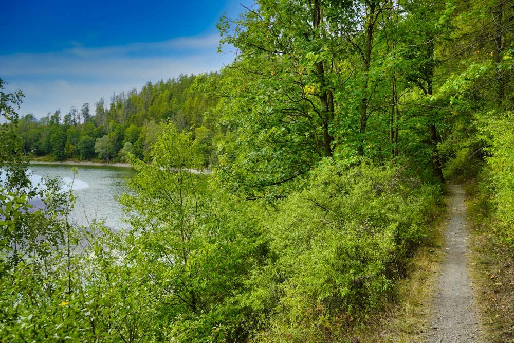 Wandern in Sangerhausen Talsperre Wippra, Wippertalsperre