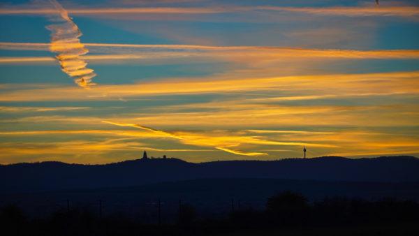 Sangerhausen - Butterberg Kyffhäuser Im Sonnenuntergang