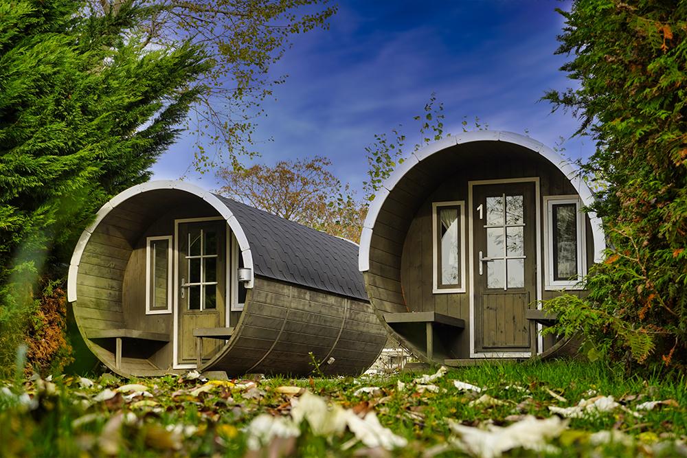 Seegebiet Mansfelder Land - Seeburg Campingplatz Am Süssen See - Schlaffässer