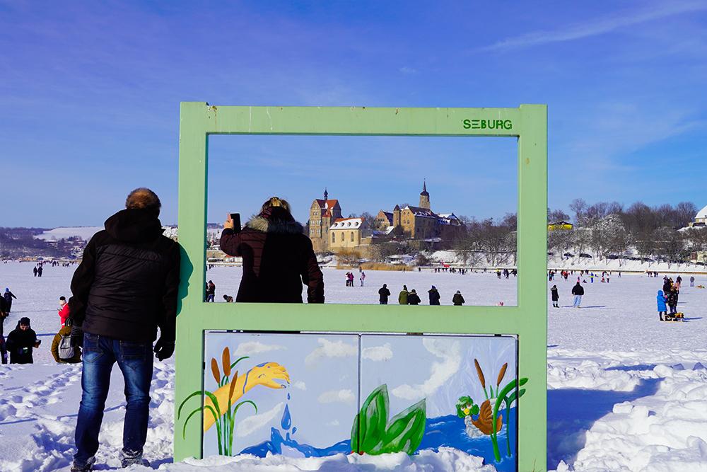 Seegebiet Mansfelder Land - Schloss Seeburg Im Winter