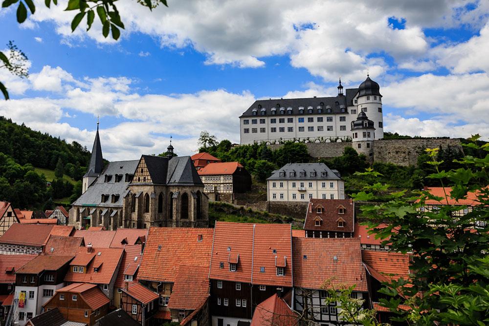 Stolberg (Harz) - Stadtkirche und Schloss