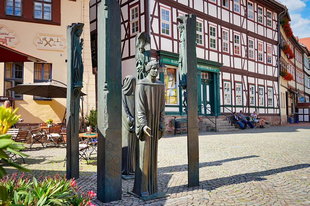 Stolberg (Harz) - Thomas-Müntzer-Denkmal am Markt