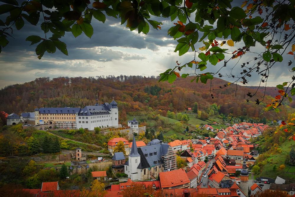 Stolberg (Harz) - Lutherbuche Aussicht
