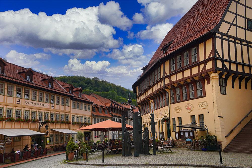 Stolberg (Harz) - Rathaus & Markt