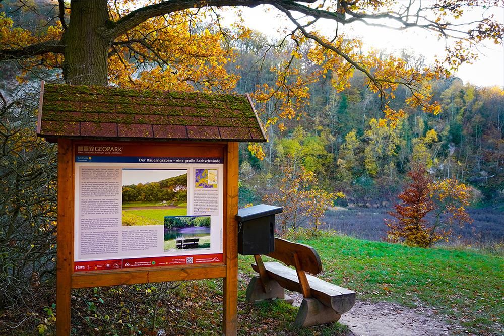 Südharz Karstwanderweg - Stempelstelle am Bauerngraben