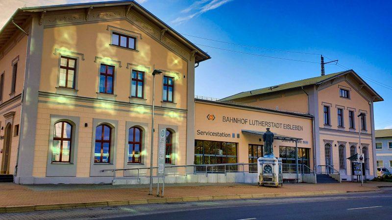Anreise & Mobilität - Bahnhof Lutherstadt Eisleben